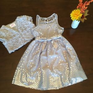 Beautiful! Girls Justice grey dress and vest